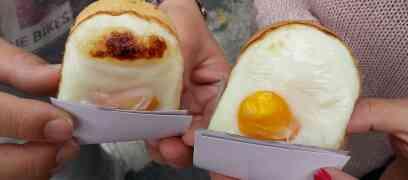 Funky egg baked bun@Hongik University area, Seoul