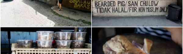 KY eats – Sinalau Bakas (Smoked Wild Boar) near Kinabalu Park, Sabah