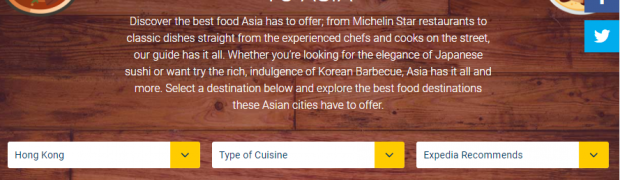 Expedia's Interactive Food Guide to Asia