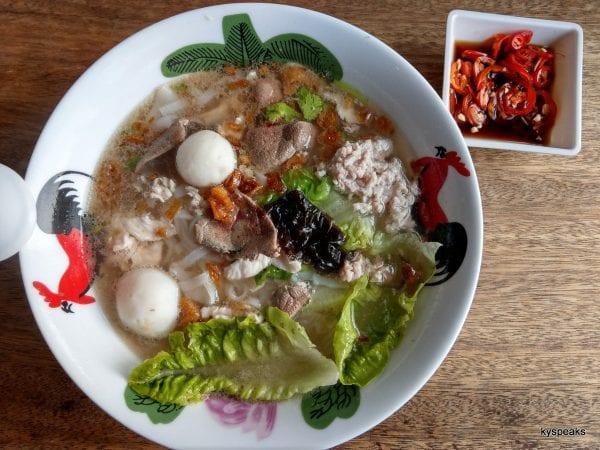 honest comfort food - kuih teow soup