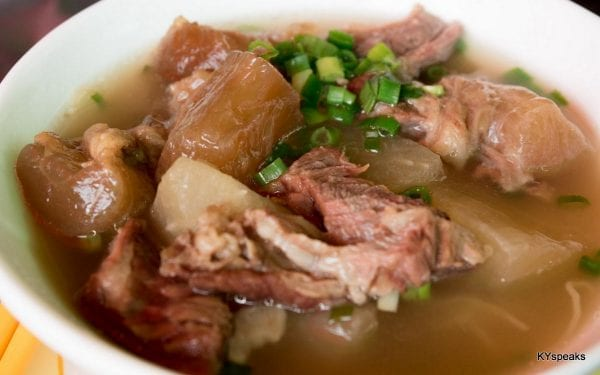 beef offal with noodle