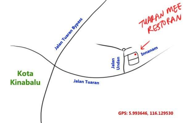 tuaran mee restoran map
