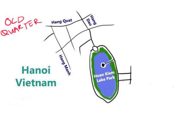 map of hanoi old quarter