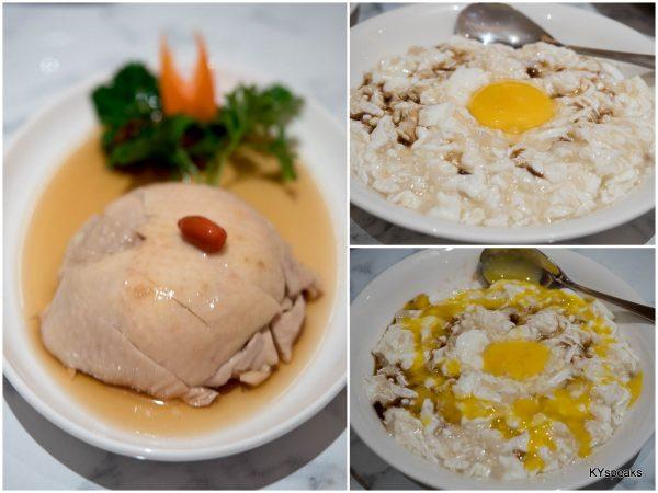 Drunken Chicken, Scrambled Egg White with Fish & Dried Scallop