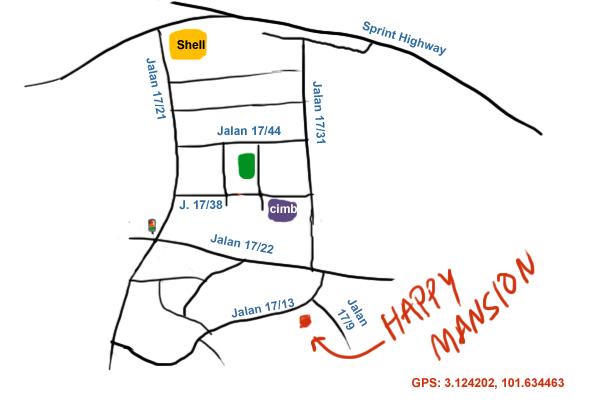 direction to Lai Thai at Happy Mansion, Seksyen 17