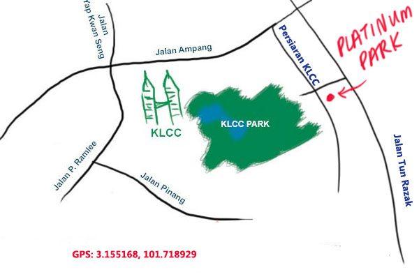 platinum park klcc map
