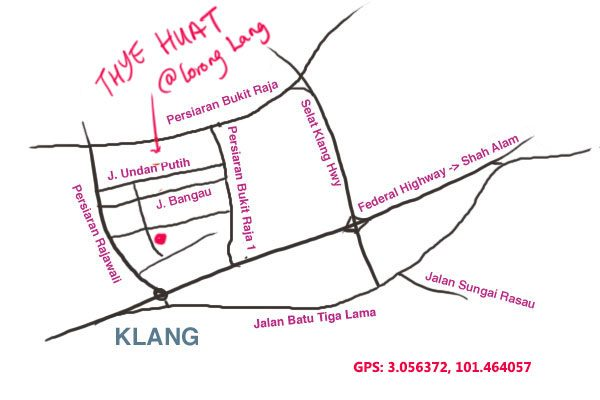 map to Thye Huat, Taman Berkeley