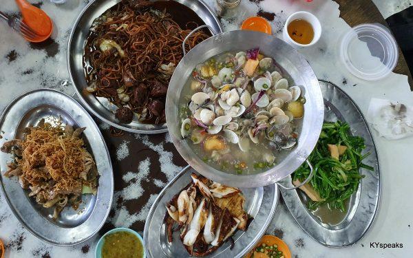 sumptuous meal at Hin Kee, Klang
