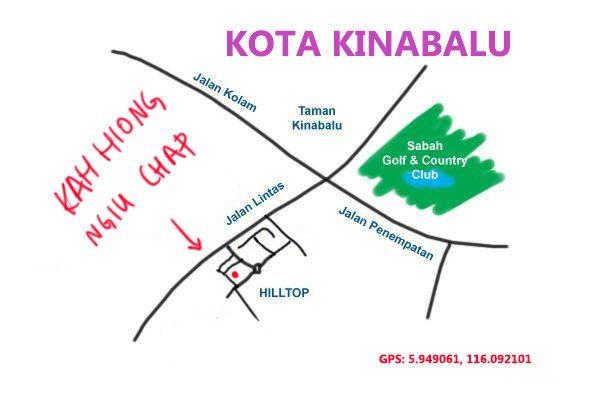 map to Kah Hiong Ngiu Chap, Kota Kinabalu