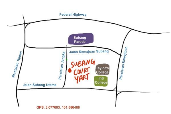 map to Subang Courtyard, SS15